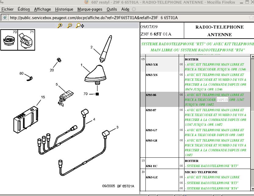 www coupe406 com :: Voir le sujet - KML Bluetooth d'origine